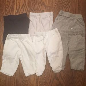 6 pairs Carters baby pants